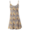 Fenice Yellow and Grey Chemise Silk Nightdress