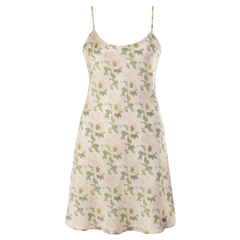 Damascena Ivory Chemise Silk Nightdress