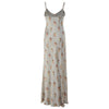 L'isle Blue Posy Long Silk Nightdress