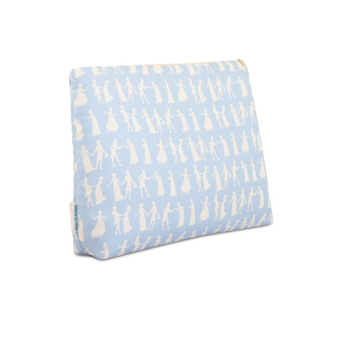 Pride and Prejudice Wedgewood Blue - Large Silk Washbag