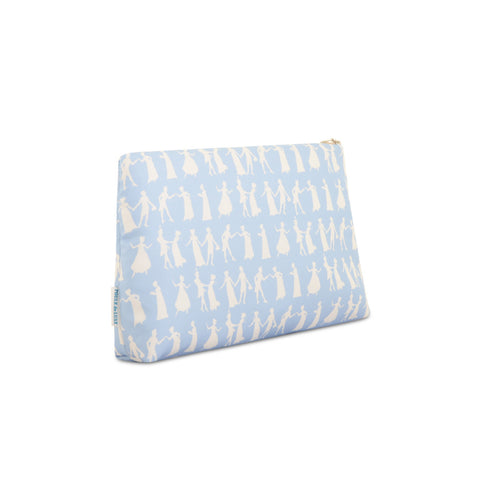 Pride and Prejudice Wedgewood Blue - Medium Silk Washbag