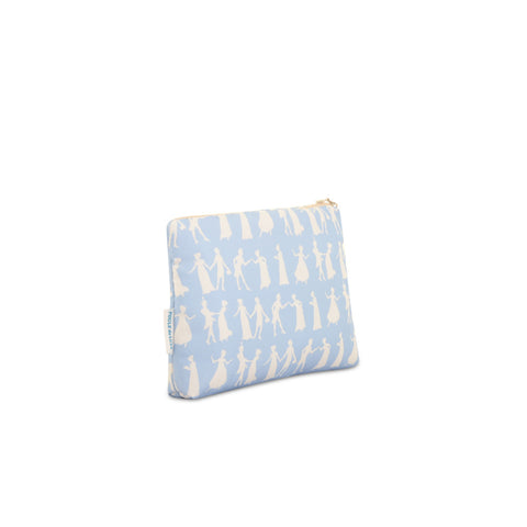 Pride and Prejudice Wedgewood Blue - Silk Makeup Bag