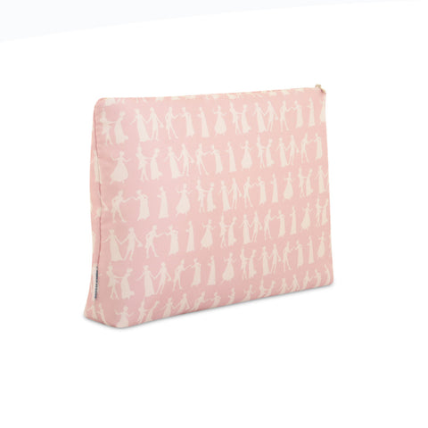 Pride and Prejudice Wedgewood Pink - Large Silk Washbag