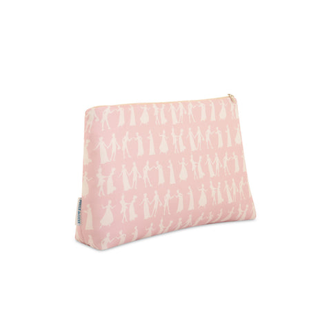 Pride and Prejudice Wedgewood Pink - Medium Silk Washbag