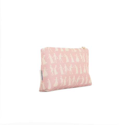 Pride and Prejudice Wedgewood Pink - Silk Makeup Bag