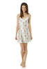 L'isle Blue Posy Chemise Silk Nightdress