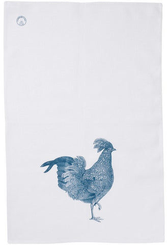Linen Green Chicken Tea Towel