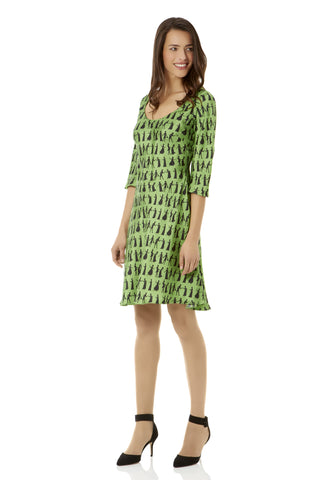 Pride and Prejudice Lime Shift Dress
