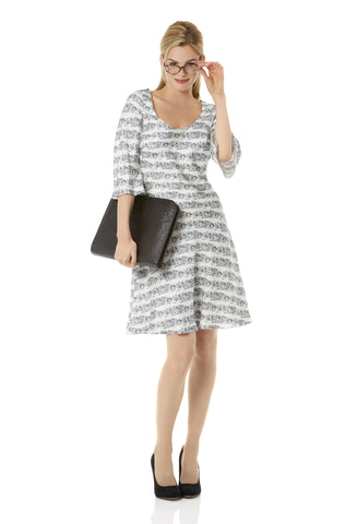 Paris Cafe Monochrome Shift Dress