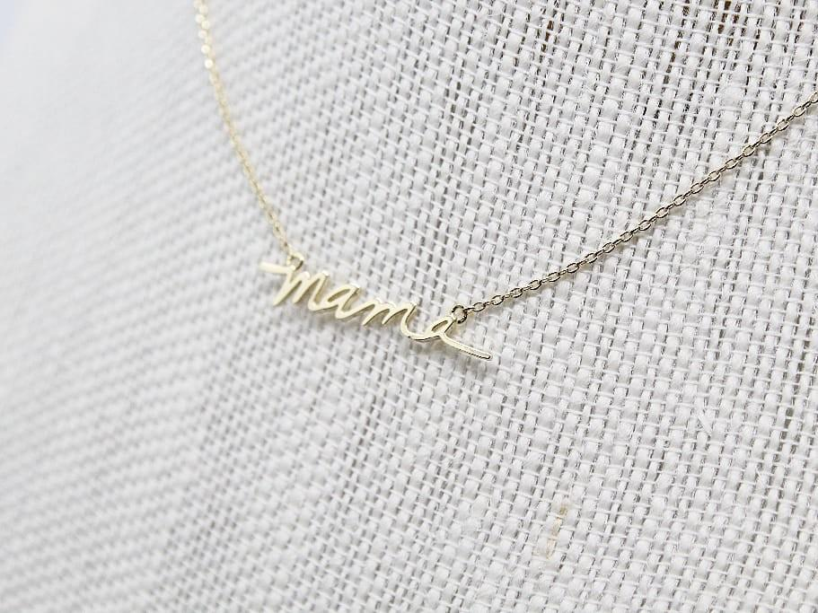Mama Necklace - Cursive