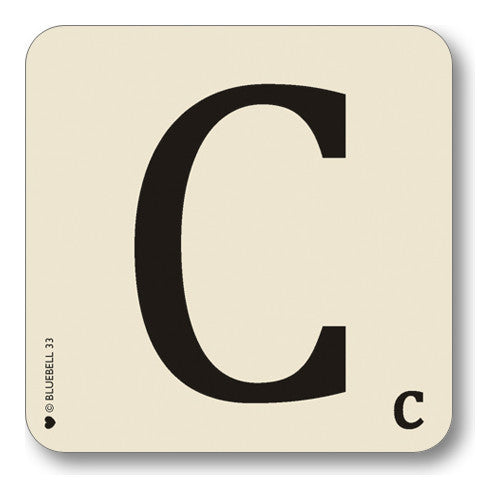 C Letter Coaster  Coasters - Bow House Lifestyle