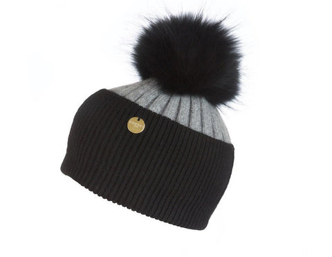 Popski London Hat - Two Tone - Black/Grey