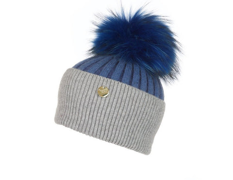 Popski London Hat - Two Tone - Grey/Blue