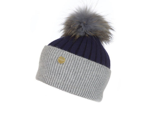 Popski London Hat - Two Tone - Grey/Navy