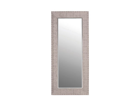 Large Grey Metal mirror  Mirrors - Bow House Lifestyle