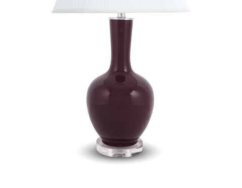 Abel Lamp Base in Plum  Lighting - Bow House Lifestyle