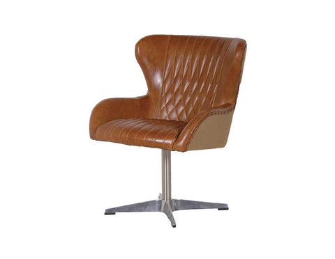 Benedict Leather Swivel Chair  Seating - Bow House Lifestyle