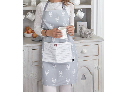 Evelyn Grey Chicken Apron  Gifts - Bow House Lifestyle