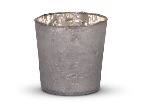Large Frosted Votive finished in Silver/White  Votives - Bow House Lifestyle