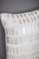 Metallic Silver Textured Cushion