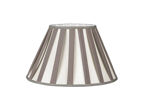 "Grey and White Ribbon Lamp Shade 16""  Lighting - Bow House Lifestyle"