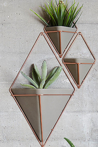 Gold/Copper Geometric Plant Holder
