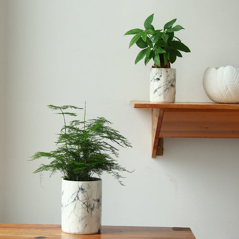 Marble Style Vase Pots