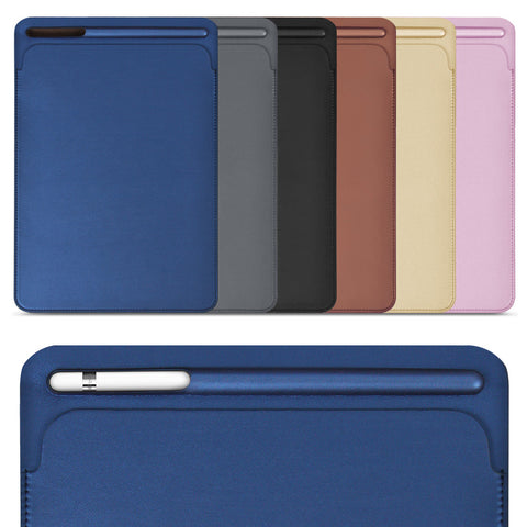 iPad Pro 10.5 and 9.7 inch,  Premium PU Leather Sleeve Case with Pencil Slot