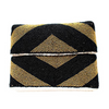Black & Gold Stripe Zoe Beaded Clutch