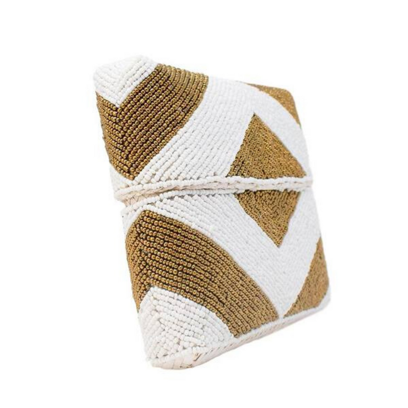 Zoe Beaded Clutch (Gold)