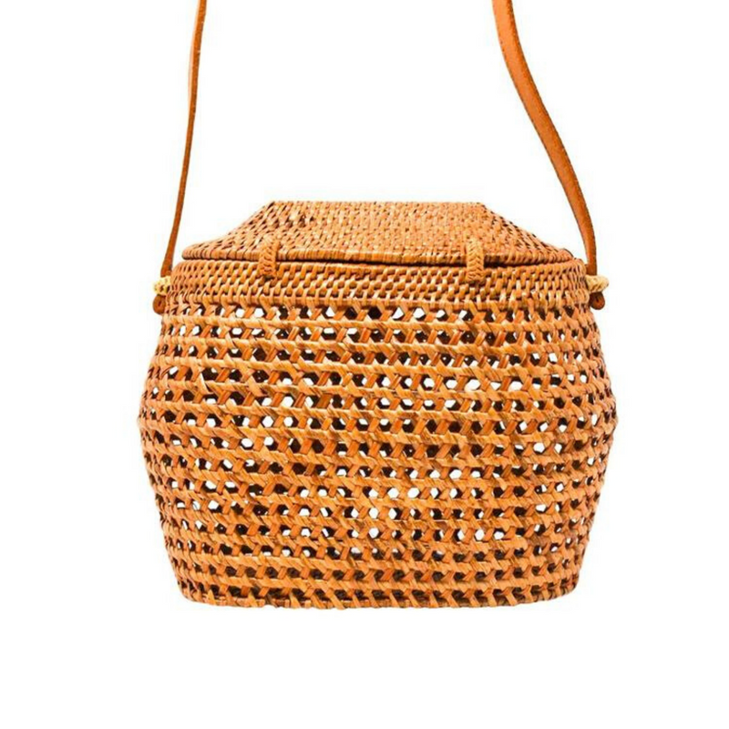 Mary Cane Straw Bag