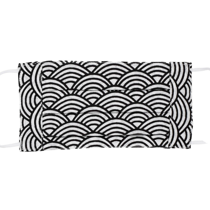 Face Mask - Black & White Swirl