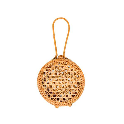 Honey Rattan Coaster Set