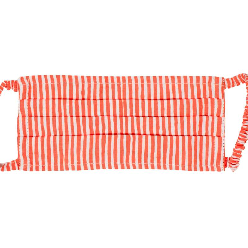 Face Mask - Peachy Keen Stripe