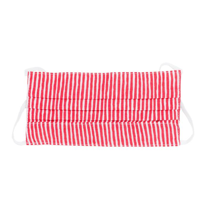 Kids's Face Mask - Red & White Stripe