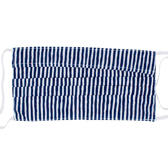 Kid's Face Mask - Nantucket Navy Stripe