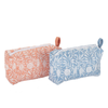 Jasmine Zipper Pouch - Blue