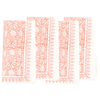 Jasmine Napkins (Set of 4)- Coral