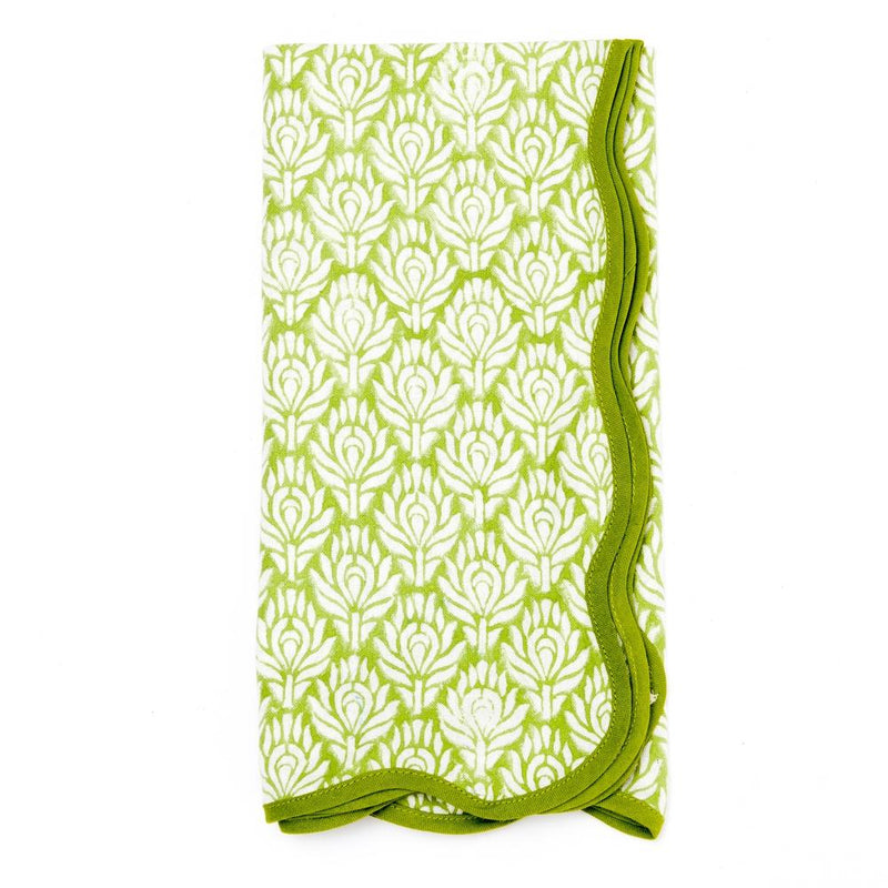 Peacock Napkins (Set of 4) - Green