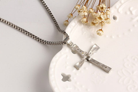 Image of Fast and Furious Crystal Cross Necklaces