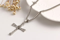 Fast and Furious Crystal Cross Necklaces