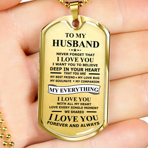 Image of To My Husband My Everything Dogtags