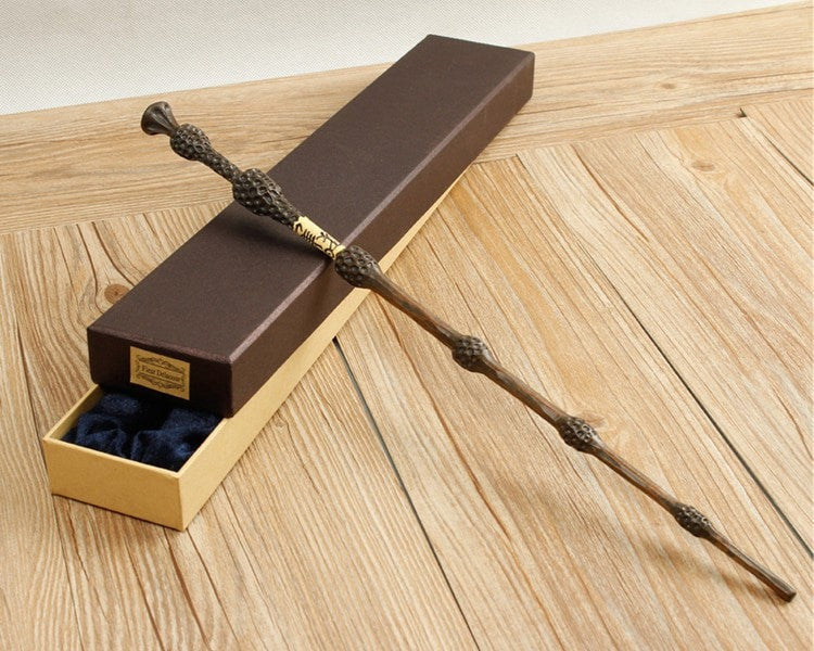 Metal Core Deluxe Dumbledore Magic Wand with Gift Box Packing