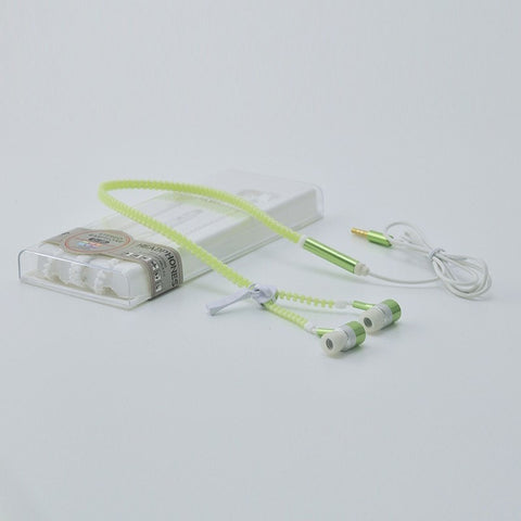 Zipper Earphones Glow In The Dark for Iphone Samsung