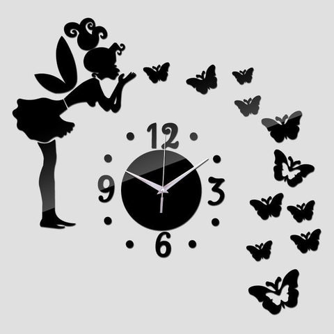 Image of Blow A Kiss 3D Acrylic Mirror DIY Wall Clock