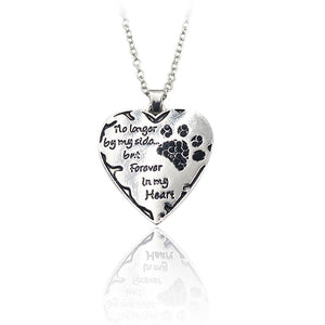 No Longer By My Side But Forever In My Heart Pendant Necklace