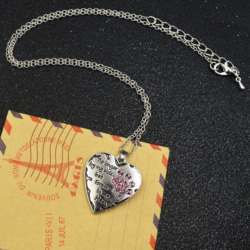 No longer by my side but forever in my heart pendant necklace need no longer by my side but forever in my heart pendant necklace aloadofball Gallery