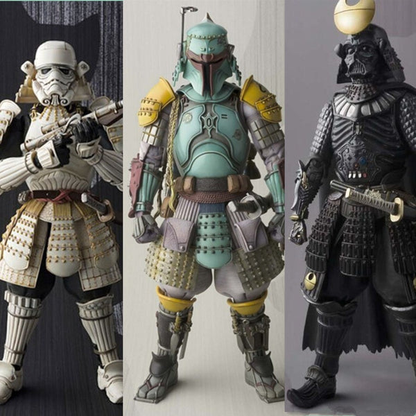 Star Wars Action Figures Stormtrooper Darth Vader Boba Fett Sic Samurai Taisho 17cm Realization Anime