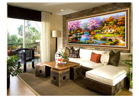 Image of 5D Diamond painting,Diamonds Dream Home
