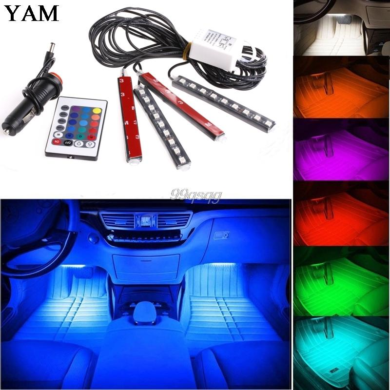 7 Color Flexible Car Styling RGB LED Strip Light  with Remote